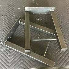 Industrial Table Legs, Metal Table Legs, H Style Table Legs, Set of 2, Raw Steel
