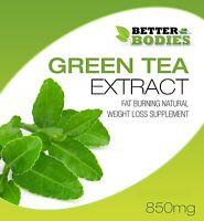 Green Tea 850mg Capsules High Strength Diet Pills Weight Loss Detox Colon