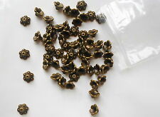 100 x 10 mm Bronzo Antico Fiori Perline Spacer Beads Tappi finali C4