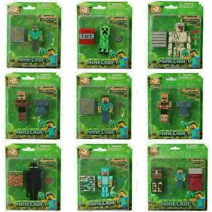 Minecraft Overworld Action Figure Toys Steve Enderman Creeper Diamond party XMAS