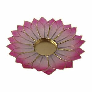 Lotus Candle Holder Capiz Shell Flat 2 Layer Decorating Accent