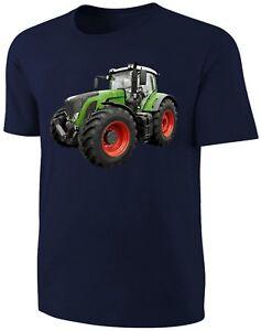 Traktor T-Shirt Schlepper Shirt Blau