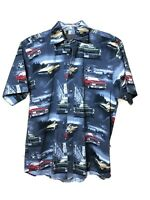 Hot Rod Shirt Mens Clearwater Car Show Camp Size M Vintage Car Chevelle Mustang