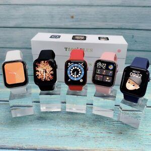 2021 New 1.75 inch Full Screen T500+plus Smart Watch Series 6 2021 Black/White