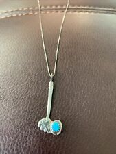 Silver Necklace Tomahawk Turquoise Sterling