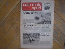AUTO MOTO SPORT 15 1976 RALLY ELBA MALANCA 125 ASPES COMPETIZIONE WOLSINK
