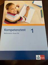 Kompetenztest 1 Mathematik 5/6 Klasse Arbeitsheft Klett