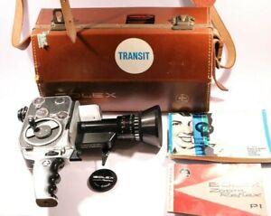 Vintage Paillard Bolex P1  Zoom Reflex Film Camera with Case