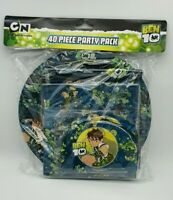 Brand New Licensed Ben 10 40 Piece Party Pack Plates Hats Loot Bags Napkins