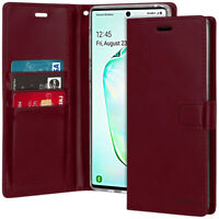 For Samsung Galaxy Note 10 Plus Case Flip Card Slot Wallet Leather Case Cover