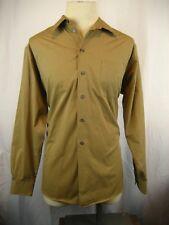 Mens Dockers Tan Cotton Blend LS NoIron Casual Shirt sz 16/16.5-34/35