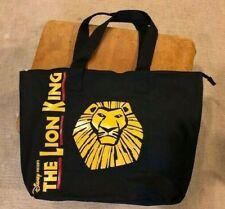 Disney The Lion King Broadway Musical Black Canvas Vip Souvenir Zipper Tote Bag