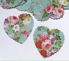 100 VINTAGE HEART SHAPED PAPER ROSE TURQUOISE WEDDING TABLE CONFETTI DECORATIONS
