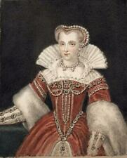 EMMA ELEONORA KENDRICK Miniature Painting POSSIBLY LOUISE OF LORRAINE PORTRAIT