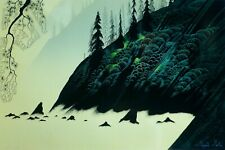 "Eyvind Earle ""SPRUCE REDWOOD & PINE"" Hand signed numbered Serigraph 1988"