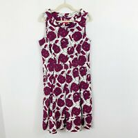 LAVIA 18 by Piazza Sempione Cotton Abstract Print Fit Flare Dress Size 48 US 12?