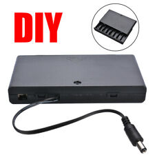 8x Aa Plastic Cell Battery Holder Storage Case Box Diy W/ On-Off Switch + Cover