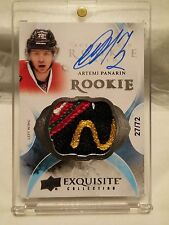 2015-16 UD The Cup Artemi Panarin Rookie Patch Auto 27/72 Russia Jersey # 1/1