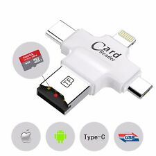 4in1 Micro USB/SD Type C OTG TF Card Reader for Android iOS Mobile Phones