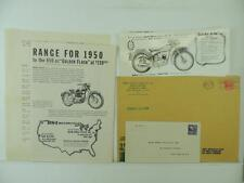 Vintage 1949 BSA Price List Bantam Golden Flash Sunbeam Gold Star L1662