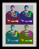 SUPERMAN POP ART DECO A3 ANDY WARHOL STYLE POSTER PRINT - LIMITED EDITION OF 100