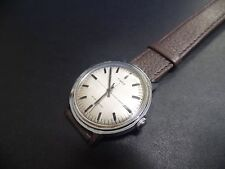 Extremely rare linen dial 1975  Made in Great Britain Timex vintage cross hair