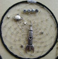 SPACE SHIP ROCKET Personalised Dreamcatcher Girls / Boys Planet Stars astronaut