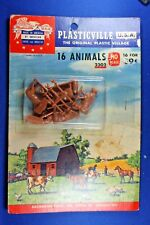 HO Plasticville #HO-2302 - Animals (16) - Blister Pack - Very Good Condition
