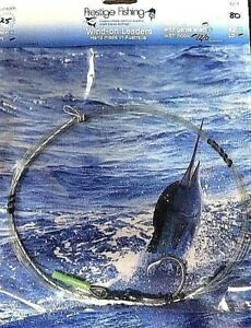 wind on leader 2 x 80lb w / 12/0 C1 hook wind on leaders Mono line Game fishing