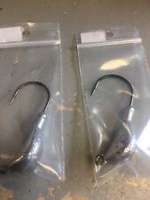 10 pack 1.5 ounce unpainted banana jigs with 7/0 vmc wide gap hook