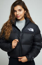 BNWT The North Face 1996 Cropped Nuptse Black Down Puffer Jacket Coat Size L