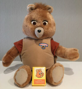Teddy Ruxpin Bear Doll BackPack Toys Treasure CARTRIDGE Working Eyes Mouth Move