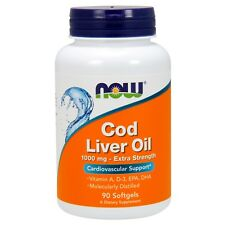 NOW Foods Cod Liver Oil Extra Strength, 1000 mg, 90 Softgels