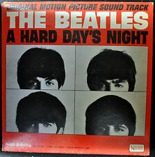 """THE BEATLES """"A Hard Day's Night"""" LP United Artists 3366 Mono Rock Soundtrack VG"""