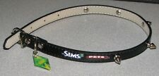 "E3 2011 Sims 3 Pets 19 1/2 "" Spiked Leather Dog Collar"