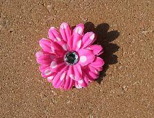 Hot Pink White Polka Dots Daisy Flower Hair Clip Girls Bow Headband Accessory