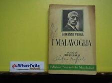 ART 9.061 LIBRO I MALAVOGLIA DI GIOVANNI VERGA A CURA DI PIERO NARDI  1964