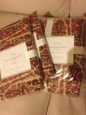 Pottery Barn Larson Duvet /3 Standard Shams NWT King/Cal King Christmas Fall Red
