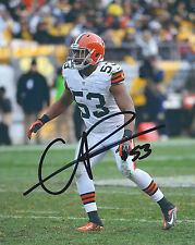 Cleveland Browns #53 CRAIG ROBERTSON Signed Autographed Football 8x10 Photo COA!