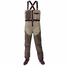 SIZE XXL REDINGTON SONIC-PRO HDZ ZIP FRONT BREATHABLE FLY FISHING CHEST WADERS