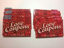 Love Coupons 5 booklets for Guys and 5 booklets for Girls 12 coupons per booklet