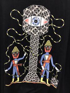 RVCA artist series t shirt mens Large new with tags black graffiti art L skate