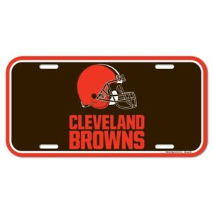 """CLEVELAND BROWNS 6""""x12"""" OFFICIAL LOGO LICENSE PLATE CAR BRAND NEW WINCRAFT 👀🏈"""