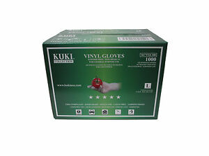 Disposable Vinyl Gloves - Large - Case of 1000 - Kuki Collection