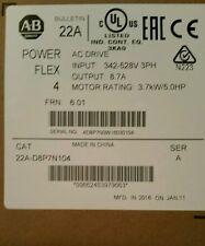 powerflex 4 22A-D8P7N104 3.7 KW 5 HP VFD VSD