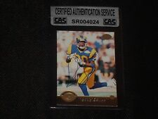 ISAAC BRUCE 1996 LEAF AUTHENTIC SIGNED AUTOGRAPHED CARD #75 RAMS CAS AUTHENTIC