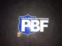 "Police Benevolent Foundation 2"" X 3"" DECAL- FOP PBA Support"