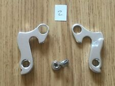 No 2  REAR DERAILLEUR BICYCLE ALLOY GEAR HANGER DROP OUT & BOLTS