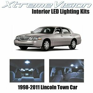 XtremeVision Interior LED for Lcoln Town Car 1998-2011 (10 PCS) Cool White