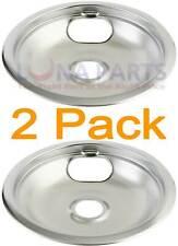 """2 Pack Preway Stove Range Cooktop 8"""" Burner Chrome Drip Pan K15018"""